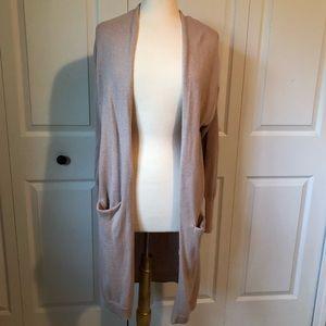 Blush Longline Knit Cardigan